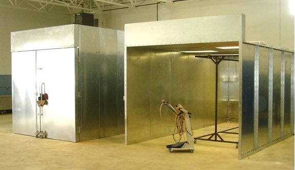 Powder x powder coating equipment ovens powder booths for Powder coating paint booth
